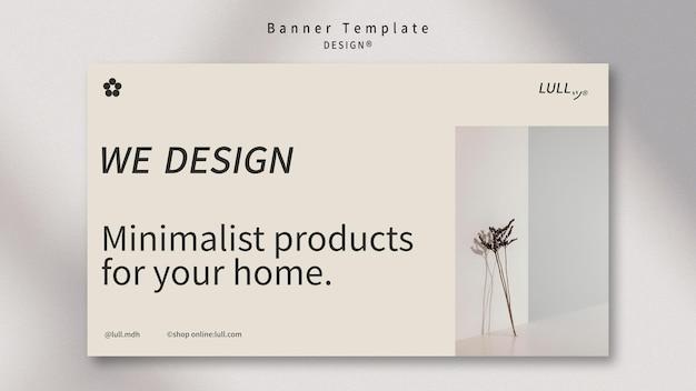 Modèle de bannière intérieure de conception