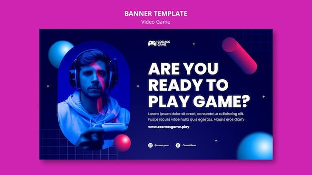Modèle de bannière de jeu vidéo
