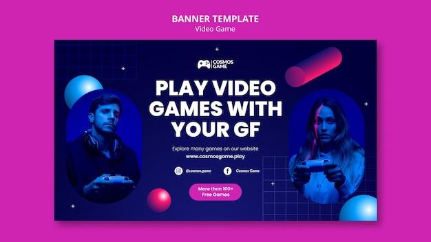 Modèle De Bannière De Jeu Vidéo Psd gratuit