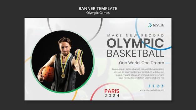 Modèle de bannière de jeux olympiques