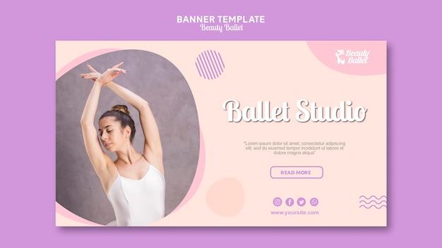 Modèle de bannière de jour de ballet