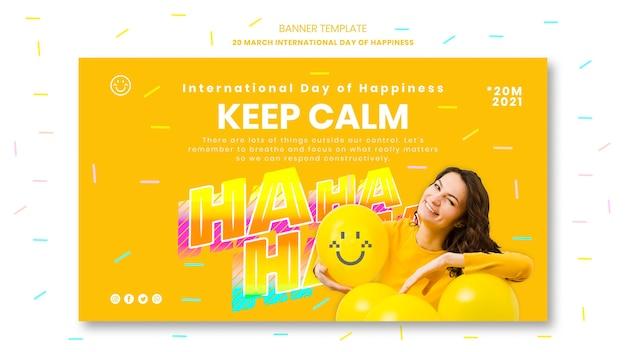 Modèle de bannière de jour de bonheur