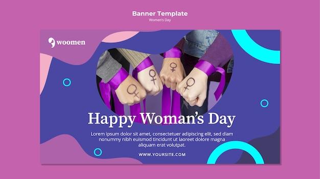 Modèle de bannière de jour coloré pour femmes