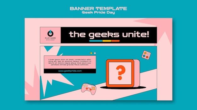 Modèle de bannière de jour de fierté geek
