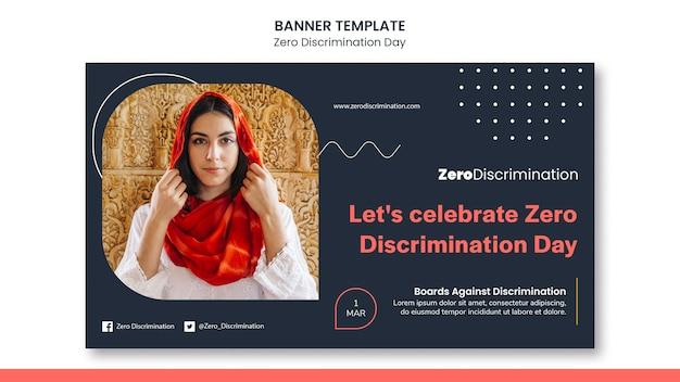 Modèle de bannière de jour zéro discrimination