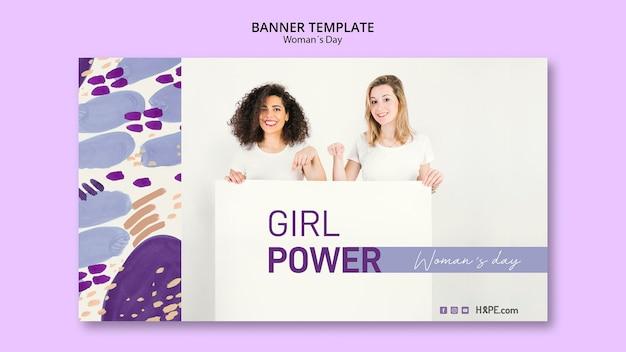 Modèle de bannière de journée des femmes