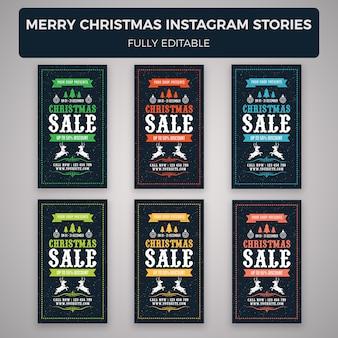 Modèle de bannière joyeux noël instagram histoires