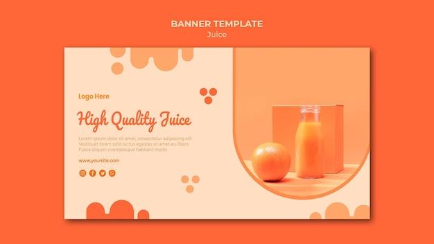 Modèle de bannière de jus d'orange