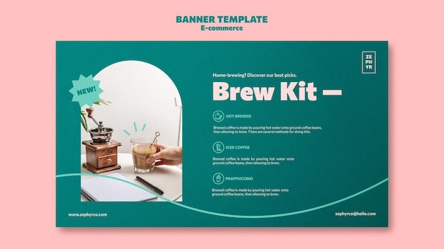 Modèle de bannière de kit de brassage