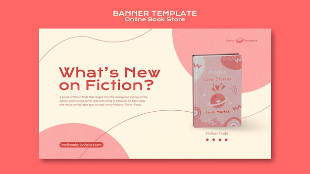 Modèle de bannière de librairie en ligne