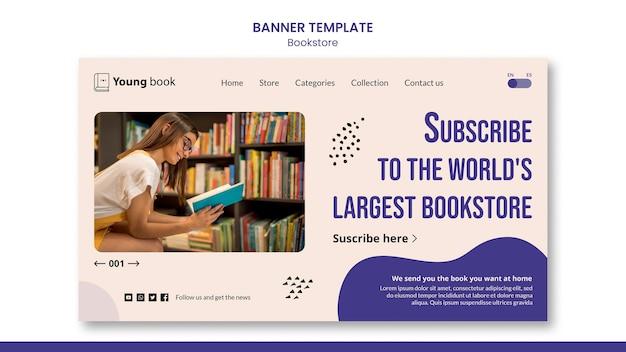 Modèle de bannière de librairie