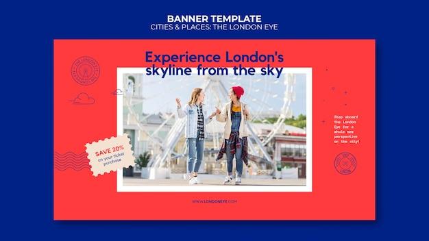 Le modèle de bannière london eye