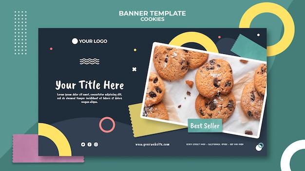 Modèle de bannière de magasin de biscuits