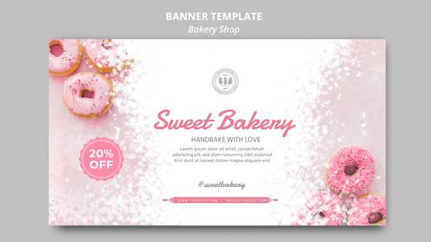 Modèle de bannière de magasin de boulangerie daigne