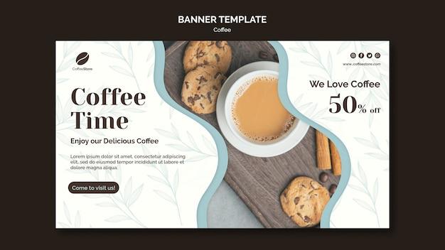 Modèle de bannière de magasin de café