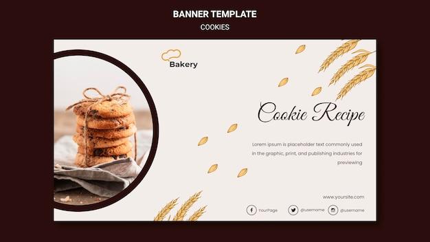 Modèle de bannière de magasin de cookies