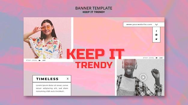 Modèle de bannière de magasin de mode