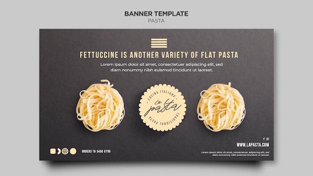 Modèle de bannière de magasin de pâtes