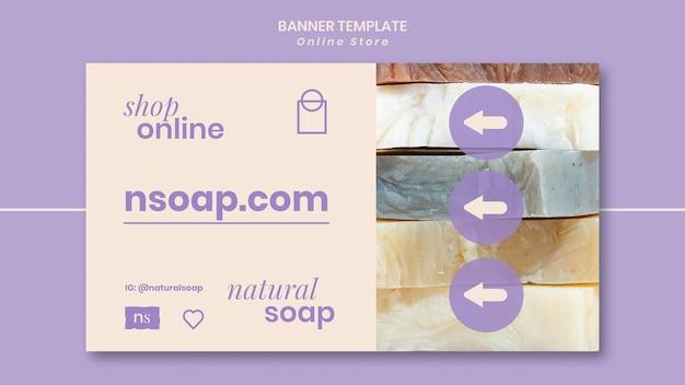 Modèle de bannière de magasin de savon fait main