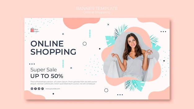 Modèle de bannière de magasinage en ligne