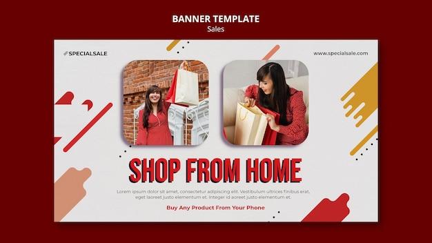 Modèle de bannière de magasinage à la maison