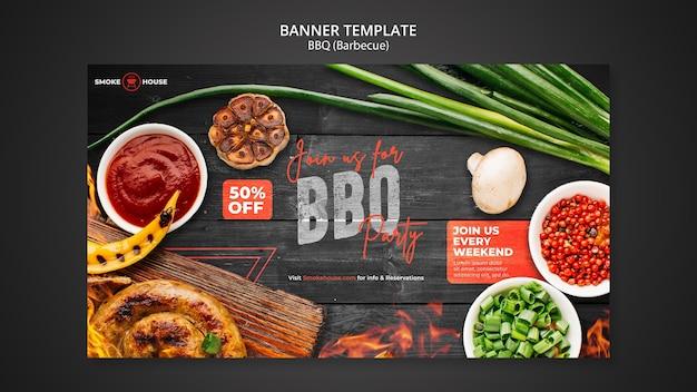 Modèle de bannière de maison de barbecue