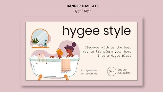Modèle de bannière de maison de style hygge