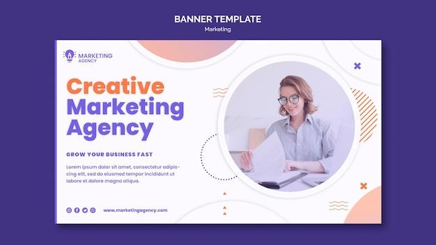 Modèle de bannière de marketing créatif