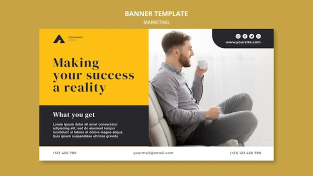 Modèle de bannière de marketing d'entreprise