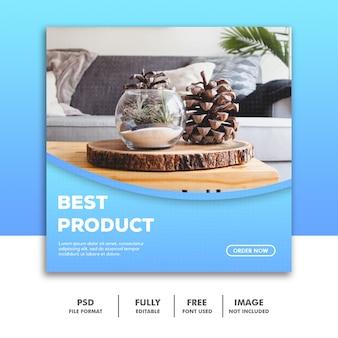 Modèle de bannière de médias sociaux, produit de décoration de meubles