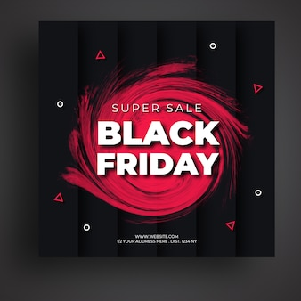 Modèle de bannière de médias sociaux de vente vendredi noir
