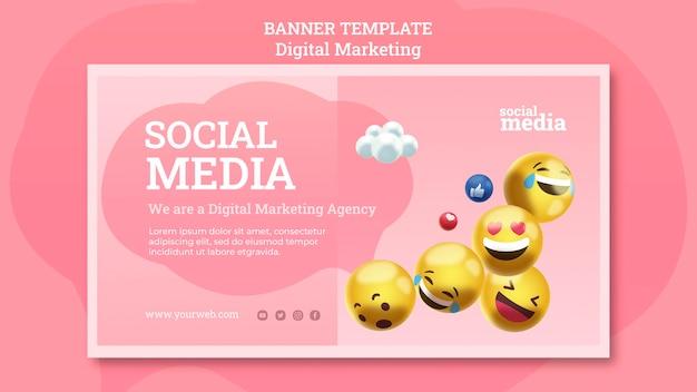 Modèle de bannière de médias sociaux