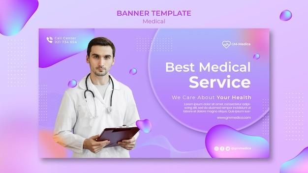 Modèle de bannière médicale avec photo