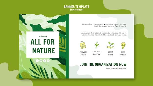 Modèle de bannière de mesures écologiques
