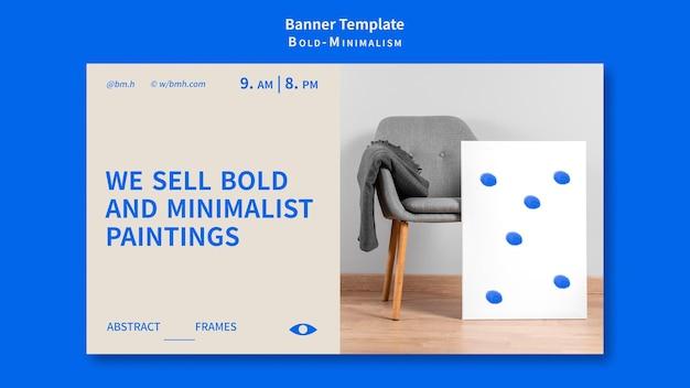 Modèle de bannière de minimalisme audacieux