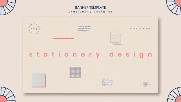 Modèle de bannière minimaliste