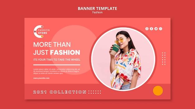 Modèle de bannière de mode
