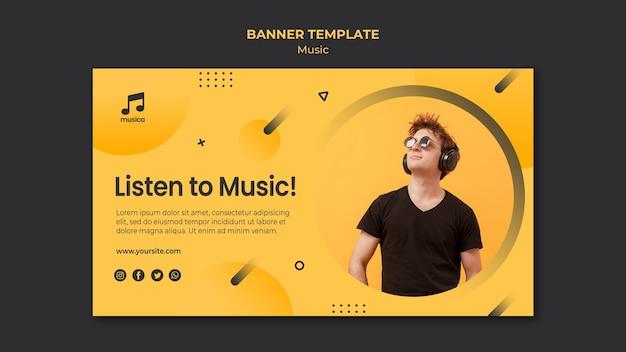 Modèle de bannière de musique