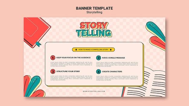 Modèle de bannière de narration rétro