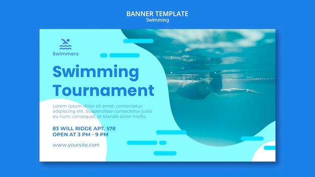 Modèle de bannière de natation