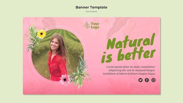 Le modèle de bannière naturel est meilleur