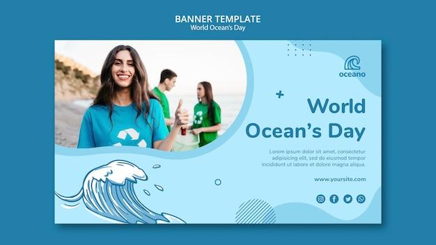 Modèle de bannière de nettoyage des plages