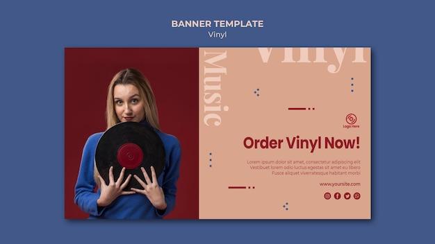 Modèle de bannière oder vinyl now