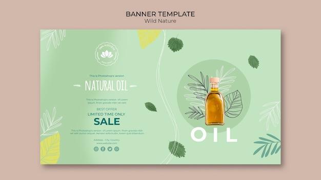 Modèle de bannière d'offre d'huile naturelle