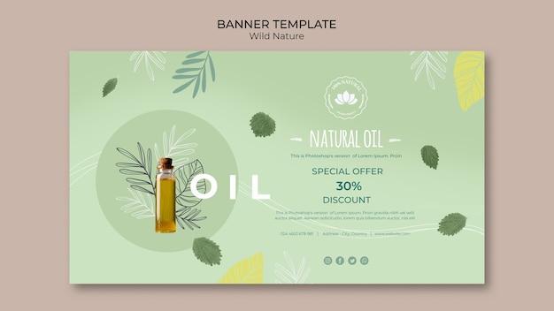 Modèle de bannière d'offre spéciale d'huile naturelle