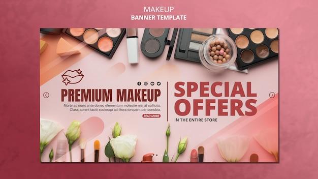 Modèle de bannière offre spéciale de maquillage