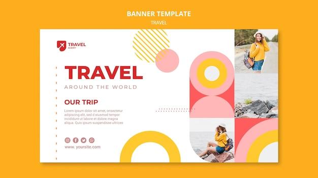 Modèle de bannière d'offre de voyage