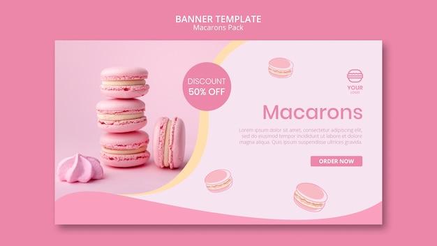 Modèle de bannière de pack de macarons