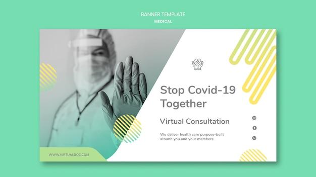 Modèle de bannière de pandémie covid19