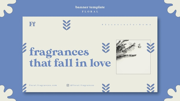 Modèle de bannière de parfums floraux
